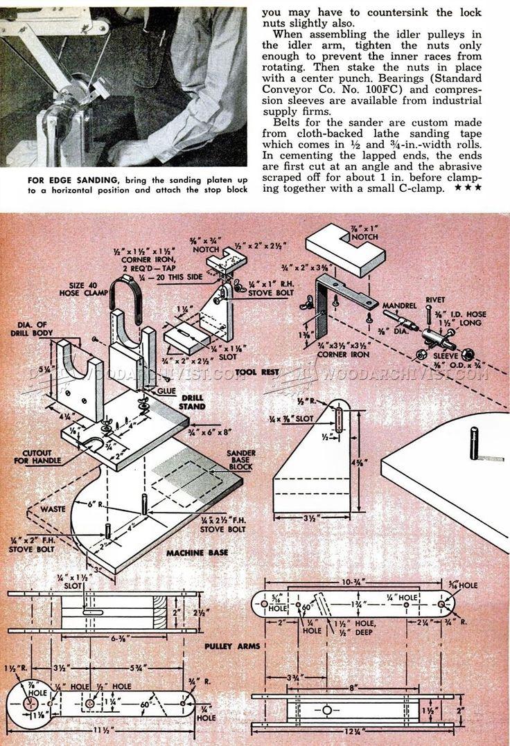 DIY Belt Sander - Sanding Wood Sharpening