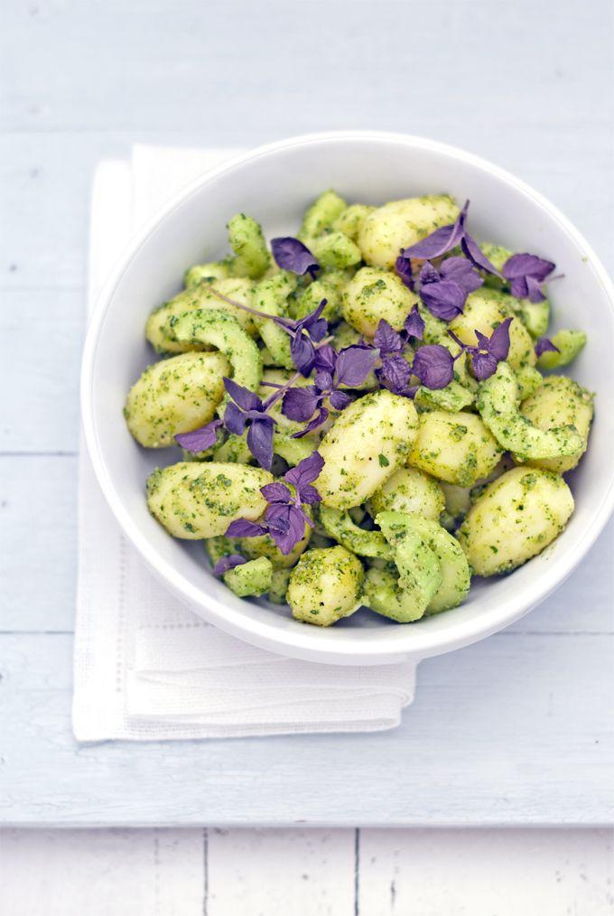 insalata di patate al pesto di coriandolo