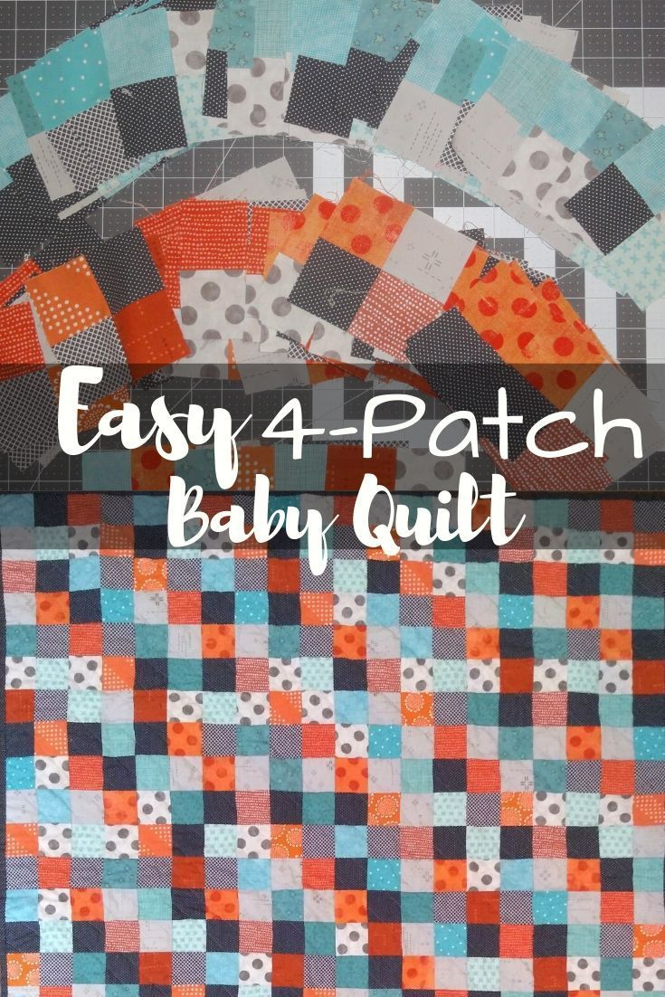 Easy 4 Patch Baby Quilt In Three Colors Darcy Quilts In 2020 Baby Quilts Quilts Baby Quilt Tutorials