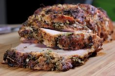 Herb Rubbed Smoked Pork Loin - Smoking Meat Newsletter