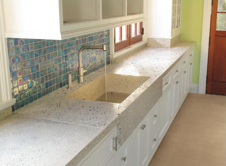 17 best images about blue kitchens on pinterest blue for Kitchen cabinets made from recycled materials
