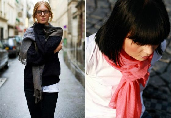 How to Tie your Scarf Like a French Woman-I watched the video-amazing!!!!! You have to see it!!!