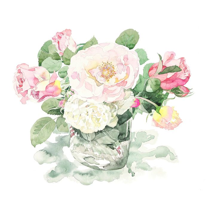 Watercolor Artist Ayako Tsuge Perfumed Garden Roses