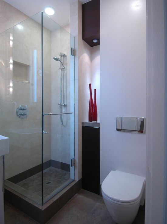 38 best smallest bathroom ever ideas images on pinterest - Small bathroom designs with shower ...