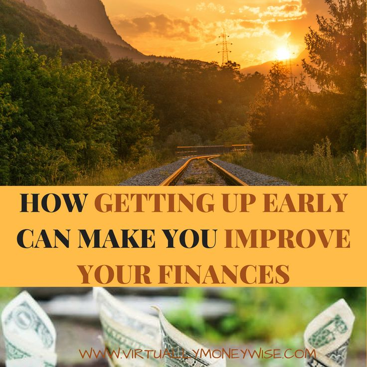 Do you feel lazy to wake up early in the morning? You can now improve your finances by getting up early. Read on and improve your finances today.