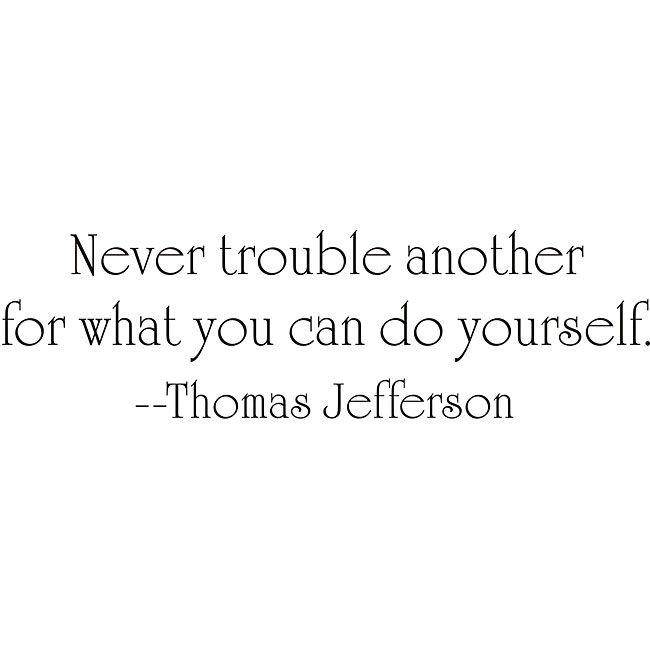 Design on Style Thomas Jefferson 'Trouble' Vinyl Wall Art Quote