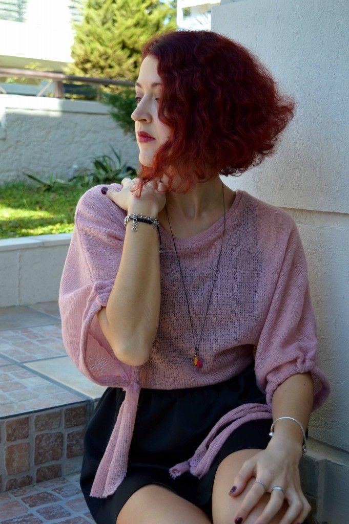 #redhead #pink #skirt #cute