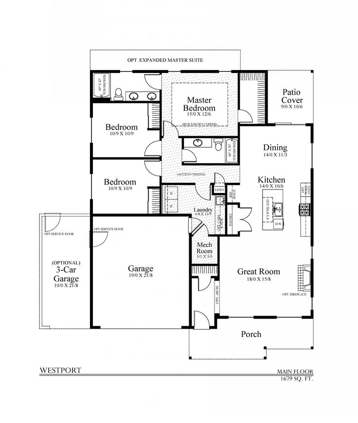 34 best house plans images on pinterest car garage for Westport homes ranch floor plans