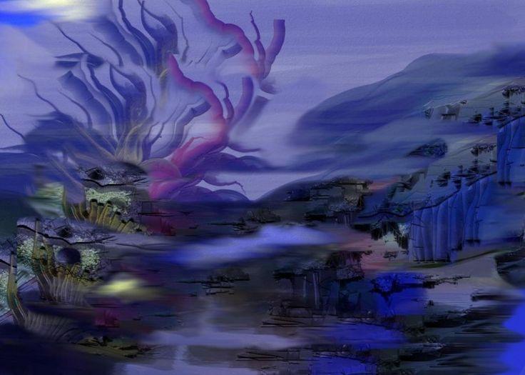 rêve bleu - Digital Arts ©2014 by Gabriela Simut -  Digital Arts, Digital Painting