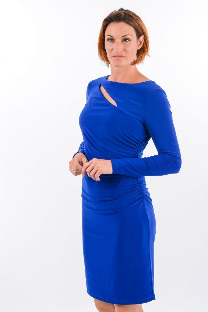 #slashdress #slash #cobalt #dress #fashion #style #JosephRibkoff #Jourdan #JourdanBelfast #Belfast #model