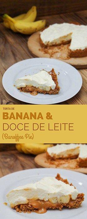 Torta de Banana e Doce de Leite (Banoffee Pie) | Malas e Panelas