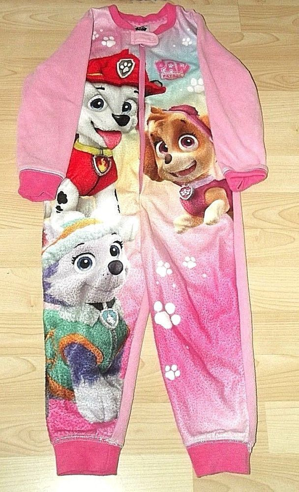 ce0cdd5f8b1a Toddler girls pink Paw Patrol fleece sleepsuit 2-3 Years In ...