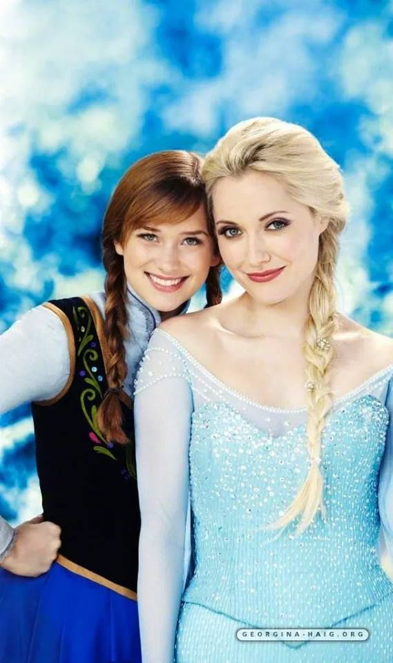 Anna and Elsa OUAT   Once upon a time, Elizabeth lail