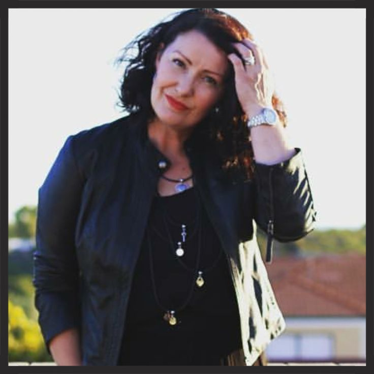 """The Fashionable Mum wearing our """"Hoops"""" multi-layered neoprene necklace."""