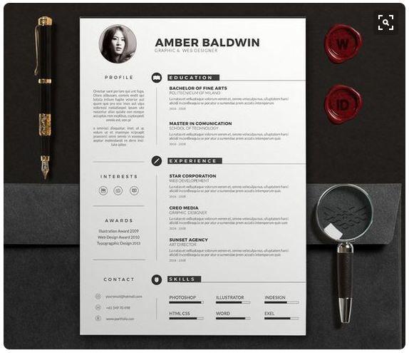 24 best Resume templates Tips images on Pinterest Resume - modern resume design