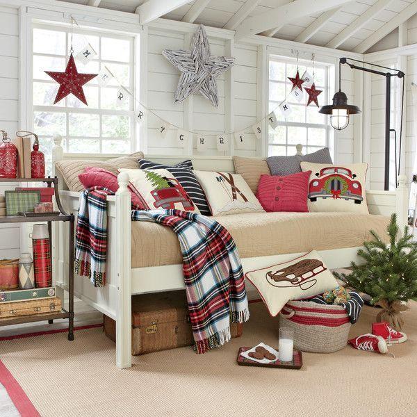 Birch Lane Mila Tartan Throw. Farmhouse Christmas Inspiration, Rustic Christmas Style, Holiday Decorating Ideas