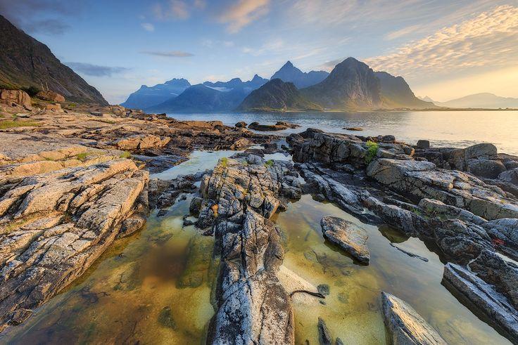 Vareid, Lofoten, Norway - Taken before sunset!