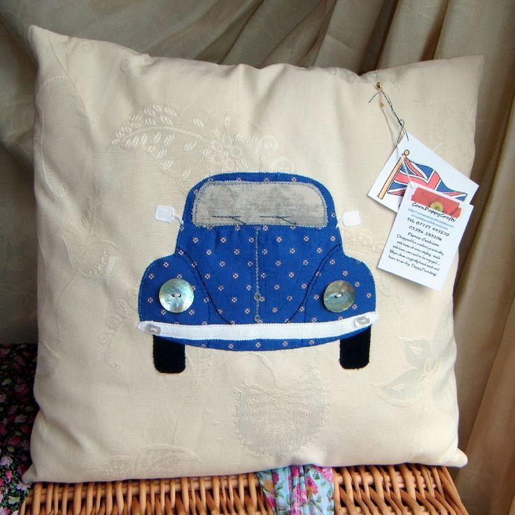 Personalised Vw Beetle Cushion