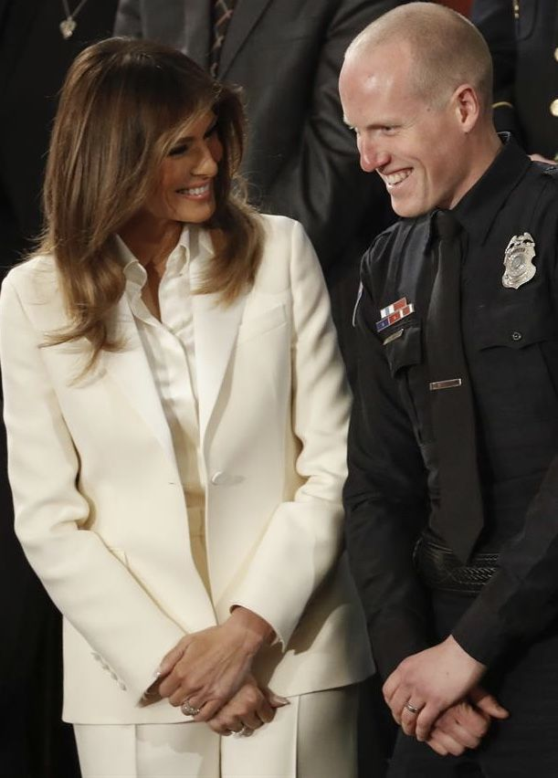 First Lady Melania Trump @ State of the Union Address 2018 Our First Lady is so impressive ♥️♥️