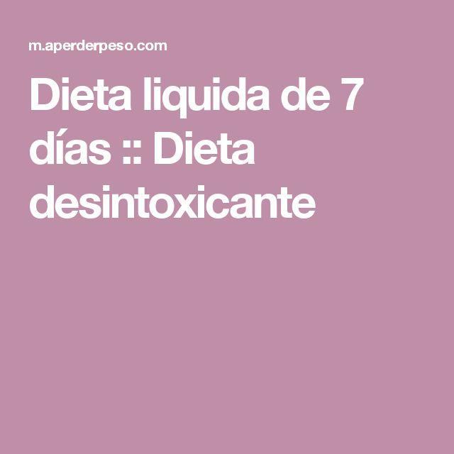 Dieta liquida de 7 días :: Dieta desintoxicante