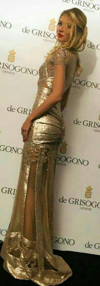 CRISTALLINI #EveningDress #RedCarpet #Prom #Sequins #GoldDress