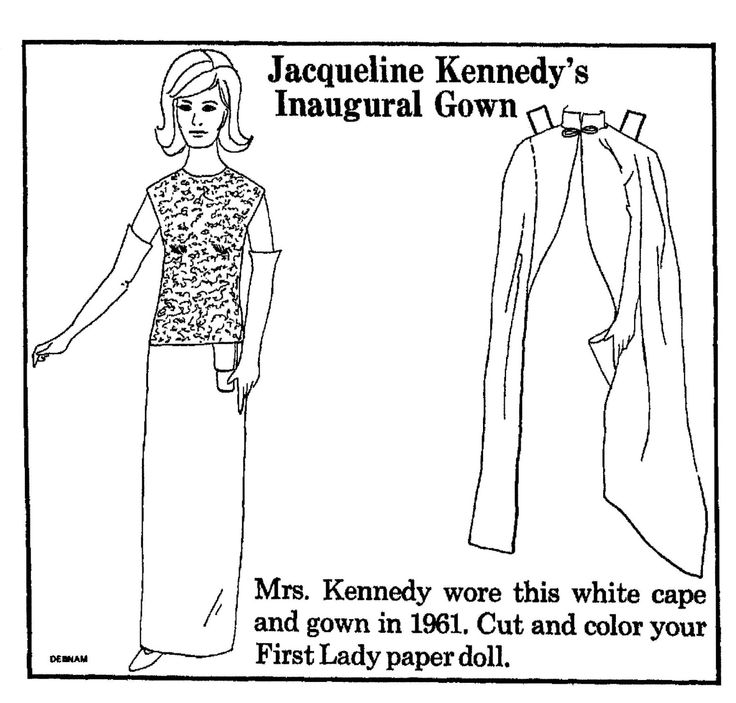 mrs kennedy wore this white cape and gown in