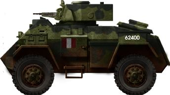 Canadian Humber Mark II in France, mid-1944. Notice the 15 mm's short barrel.