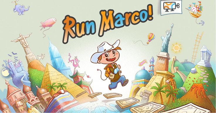 Play Run Marco! an epic adventure game and learn to code i.e. program computers! Designed for 6 to 12 y.o. kids.