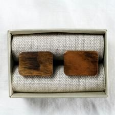 """Model """"O'Zam Dark"""" has been hand made from the natural walnut wood in the rectange shape. Since neolit era rectangle symolized for Slovans mother Earth and its strength. O'Zam Dark"""" is hand sanded in an exquisite detail. Get it for € 19.99. Inbox to our Facebook page to order."""