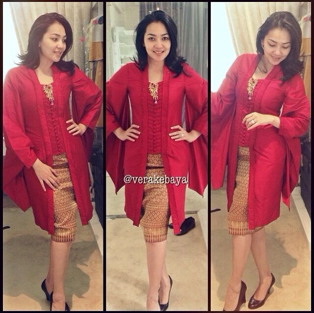 Modern style songket with kartian by vera #idea #Indonesian