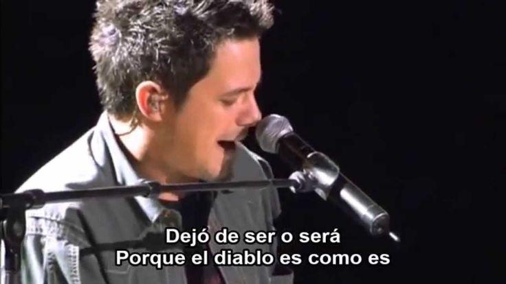 LO VES (Letra) -Alejandro Sanz en vivo (HD)