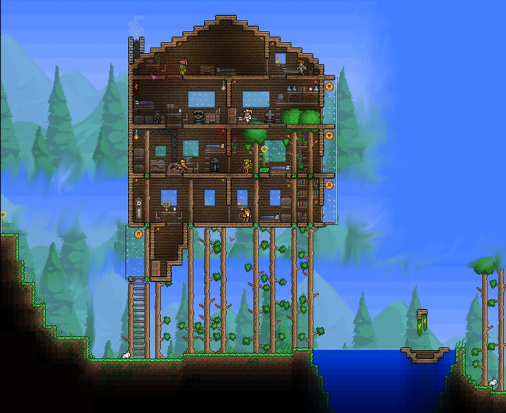 17 best images about terraria on pinterest trees for Terraria house designs