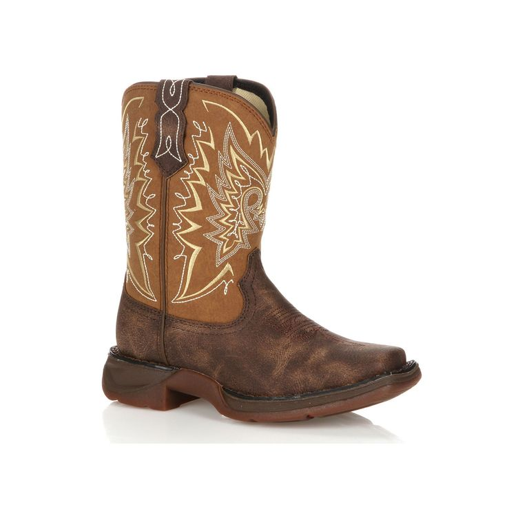 Lil Durango Let Love Fly Kids' Distressed 8-in. Western Boots, Kids Unisex, Size: 13.5, Brown