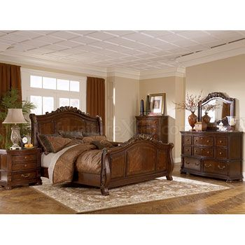 Lauran sleigh bedroom set millennium by ashley 2147 for the home pinterest bedroom for Ashley millennium bedroom suite