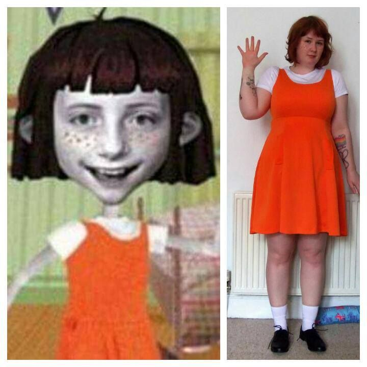 Angela Anaconda cosplay (just try to ignore the tattoos...)