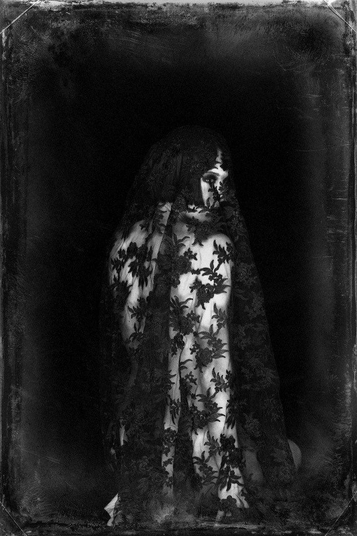 """© Malika Mokadem """"Lace 4"""", 2013 Wet plate."""