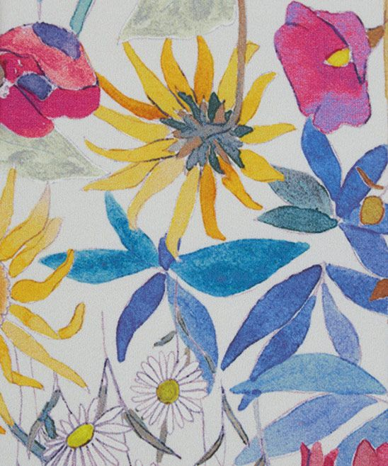 Liberty Art Fabrics Faria Flowers Cotton Satin in Flower Bed