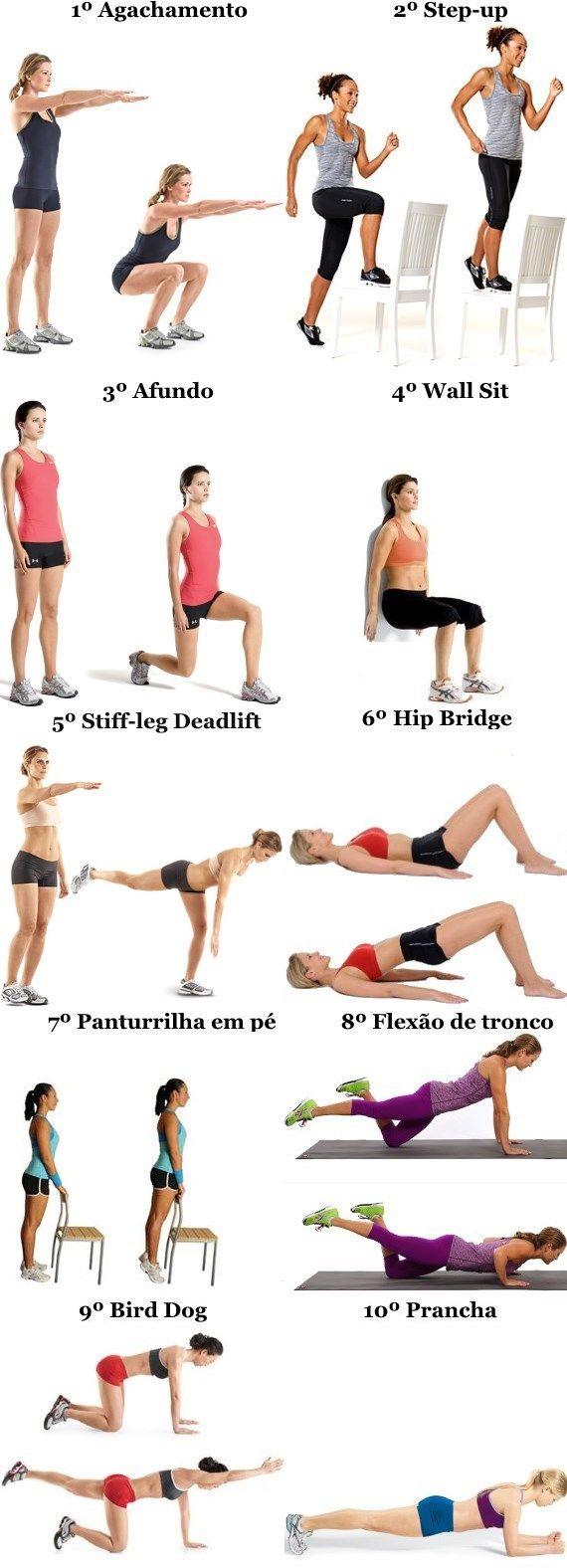 Treino musculação mulheres sem equipamento
