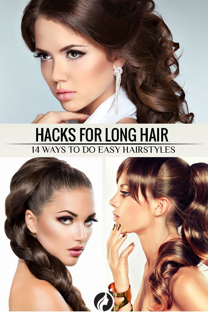 Hair Hacks For Easy Hairstyles For Long Hair ★ See more: http://glaminati.com/hacks-hairstyles-for-long-hair/