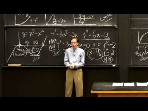 Max and Min and Second Derivative - YouTube