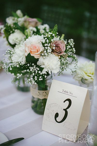 Table Numbers by Paper Heat Designs Decor by Feast Events