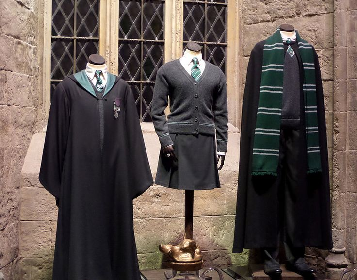 Slytherin uniforms [Trip to The Making of Harry Potter - Warner Bros. Studio Tour]