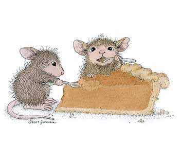 """""""Pumpkin Pie"""" from House-Mouse Designs®. This image was recently purchased on a rubber stamp. Click on the image to see it on a bunch of other really """"Mice"""" products."""