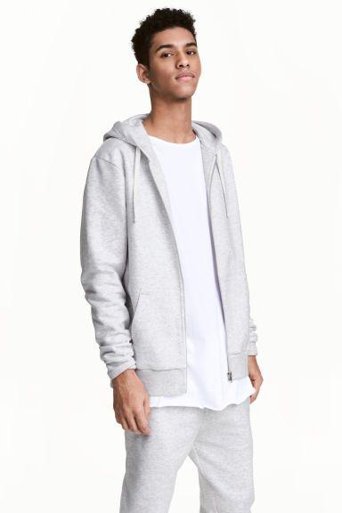 Bluza z kapturem - Jasnoszary melanż - ON   H&M PL 1