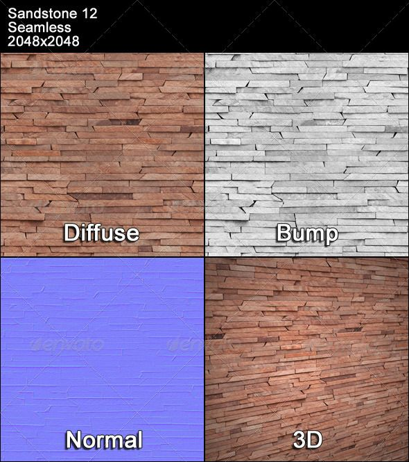 Sandstone Seamless Texture 12 Bump Diffuse Normal