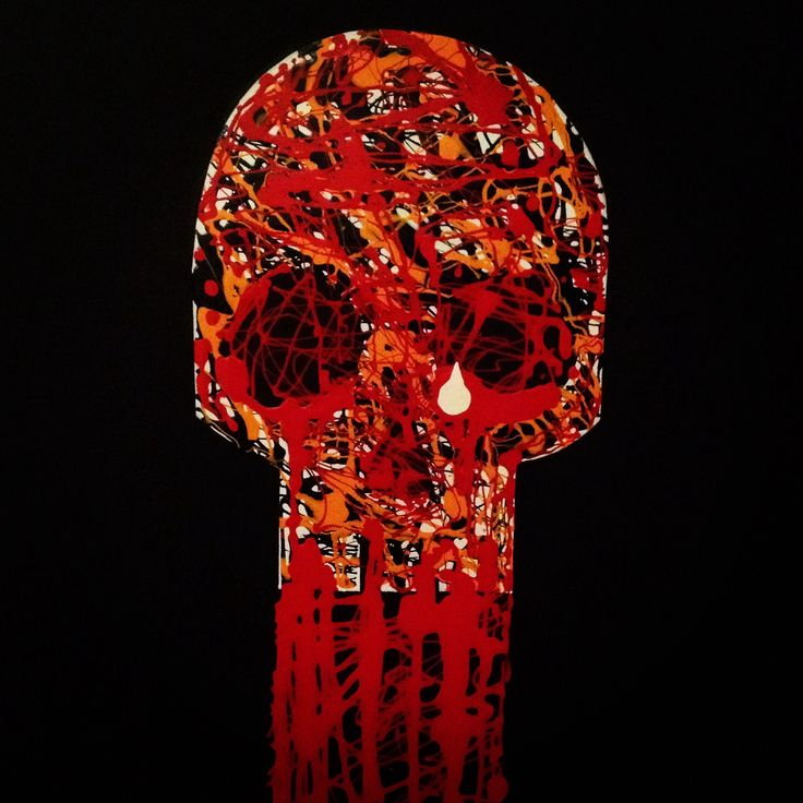 """""""Tears of Joy"""" by SKOLLTOR. Canvas painted wall piece if skull art for up-coming exhibition."""