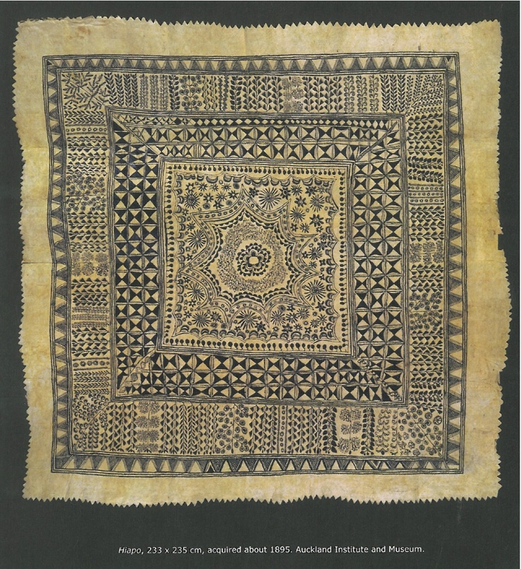 From the book Hiapo Past and Present in Niuan Bark Cloth by John Pule and Nicholas Thomas
