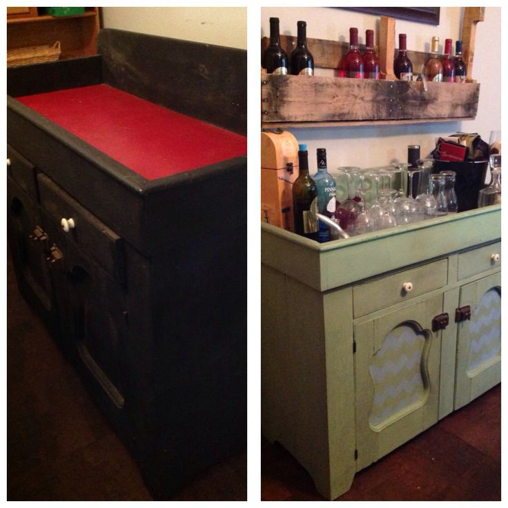 Dry sink redone with chalk paint  My projects  Dry sink DIY Home Decor Home Decor