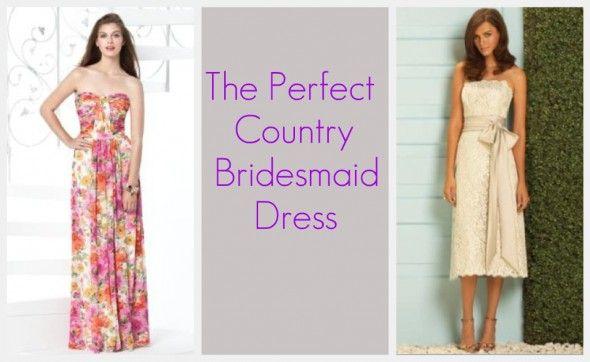 country bridesmaid dress