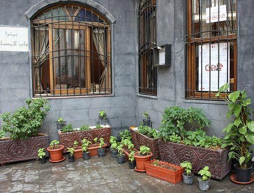 Backyard Herb Garden Ideas terraced garden beds steps and a slide Patio Herb Garden
